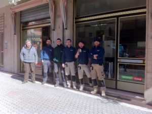 La squadra dell'idraulica Armanetti