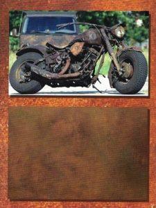 Moto rivestita in microcemento